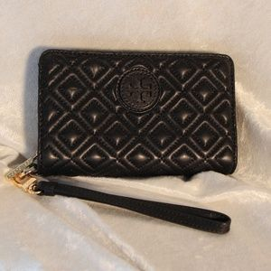 NEW Tory Burch Fleming Quilted Leather Wallet